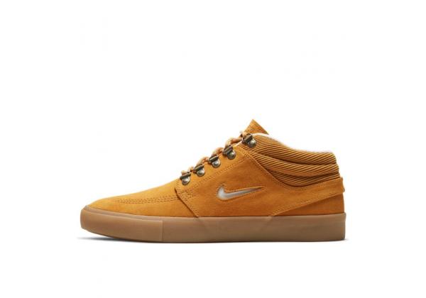 Кеды Nike SB Zoom Janoski замшевые высокие коричневые