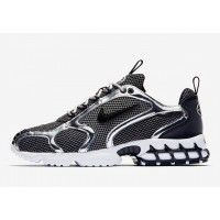 Кроссовки Nike AIR ZOOM SPIRIDON CAGED X STUSSY FOSSIL/BLACK черные