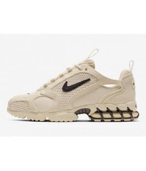 Кроссовки Nike AIR ZOOM SPIRIDON CAGED X STUSSY FOSSIL бежевые
