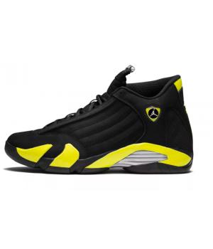 Nike Air Jordan 14 Thunder Black (Черные с желтым)