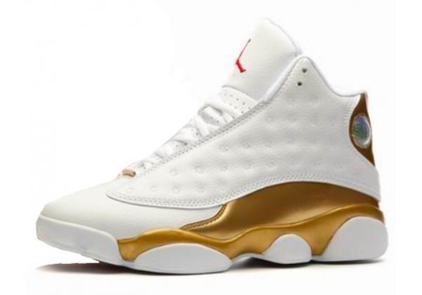 Nike Air Jordan Retro 13 White Gold (Белые с золотым)