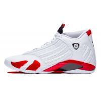 Nike Air Jordan Retro 14 White (Белые с красным)