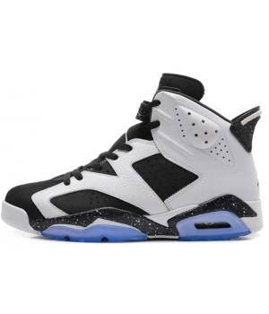 Кроссовки Nike Air Jordan высокие белые с черным