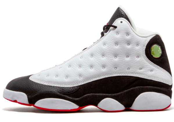Nike Air Jordan 13 Black White (Черные с белым)