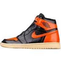 Nike Air Jordan Retro 1 High Black Orange (Черные с оранжевым)
