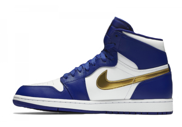 Nike Air Jordan Retro 1 High Og Blue (синие с золотым)