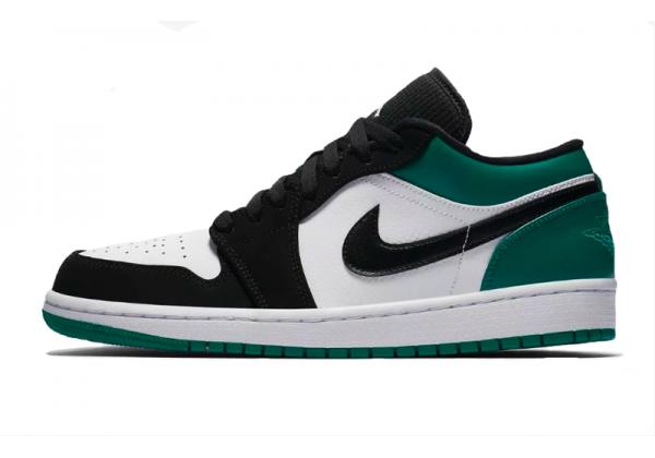 Nike Air Jordan Retro 1 Low Black White Og (Зеленые с черным)