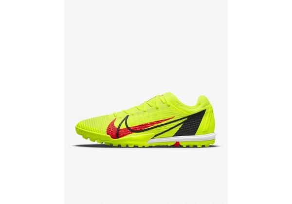 Бутсы Nike Mercurial Vapor 14 Pro TF салатовые