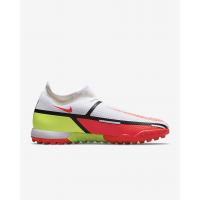 Бутсы Nike Phantom GT2 Academy Dynamic Fit TF белые