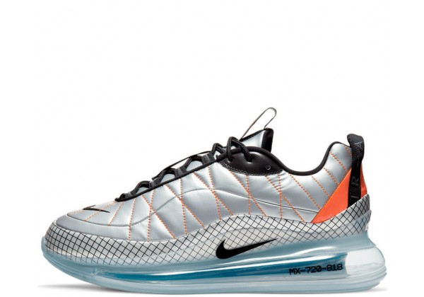 Nike Air Max MX-720-818 Metallic Silver Black Total Orange