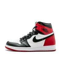 Nike Air Jordan 1 Retro High OG Black Toe чёрно-белые с красным
