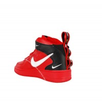 Nike кроссовки Air Force 1 07 LV8 Utility Mid «And The Swoosh» Red