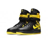 Nike кроссовки Air Force High SF AF1 Black Yellow
