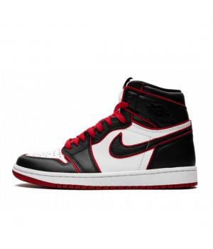 Nike Air Jordan 1 Retro High OG Bloodline бело-чёрные
