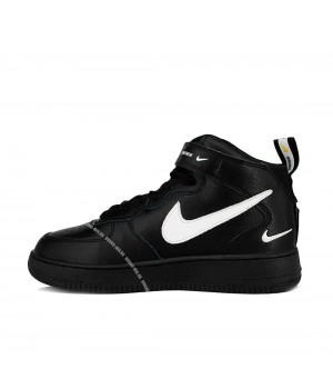 Nike кроссовки Air Force 1 07 LV8 Utility Mid «And The Swoosh» Black