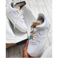 Nike Air Force 1 React белые моно