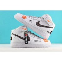 Nike кроссовки Air Force 1 Mid Just Do It White