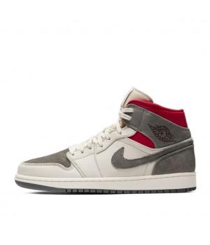 Nike Air Jordan 1 Mid Sneakersnstuff бело-серые