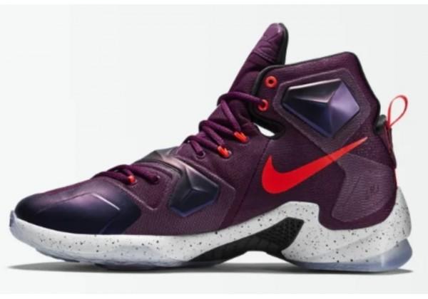 Кроссовки Nike Lebron 13 фиолетовые