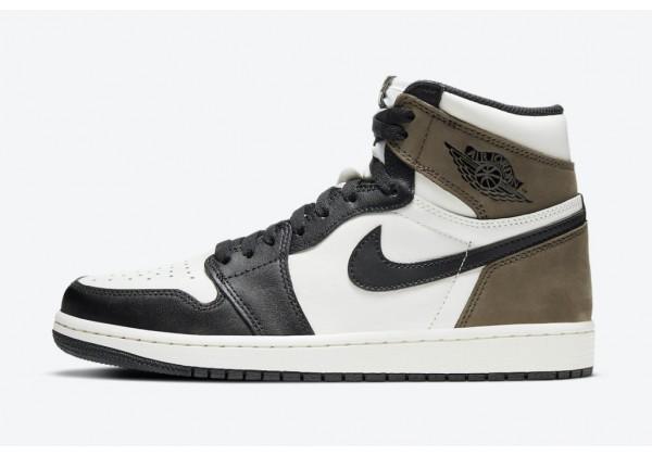 Кроссовки Nike Dark Mocha черно-белые с коричневым