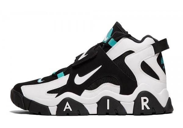 Кроссовки Nike Barrage Mid черно-белые